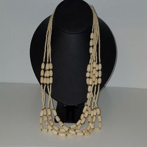 5 strand necklace brass accents